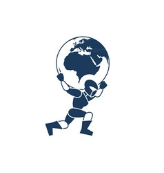 Robot-and-Globe-380x400 vector image