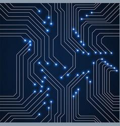 seamless pattern glowing circuit board neon vector image