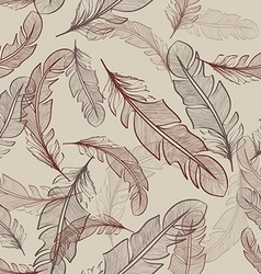 Seamless pattern of bird feathers vector