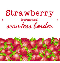 strawberry berries horizontal seamless border vector image