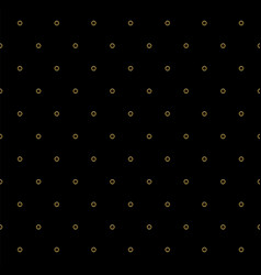 Striped pattern of golden dots on black vector
