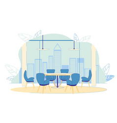 Successful prosperous company spacious office vector