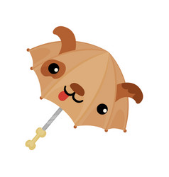 ute pug dog umbrella in the shape of vector image