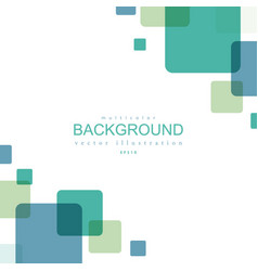 abstract green and blue squares background vector image vector image