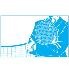 businessman and tennis vector image vector image
