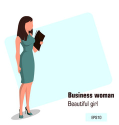 character beautiful business woman 12 vector image vector image