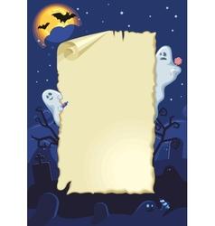 Empty halloween card vector image vector image