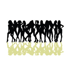 girl sexy silhouette vector image vector image