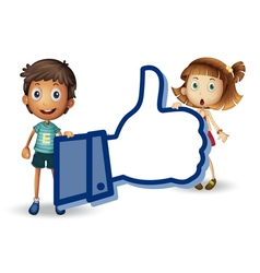 kids and thumb vector image vector image