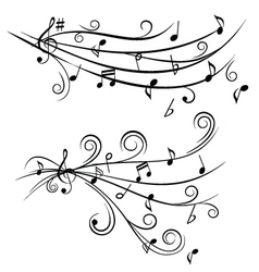 music tunes vector image vector image