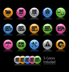 Network Server Icons vector image vector image