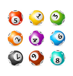 realistic detailed 3d lotto set vector image vector image