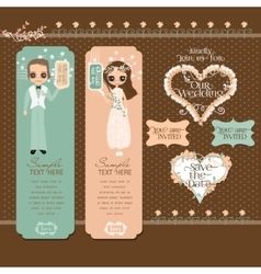 Romantic Couple Labels Set vector image vector image