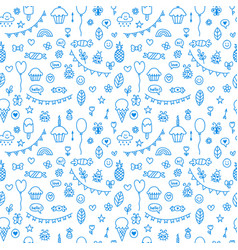background for cute little boys and girls doodle vector image vector image