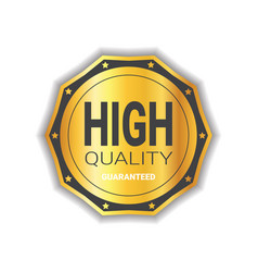 high quality sticker golden medal icon guaranteed vector image vector image
