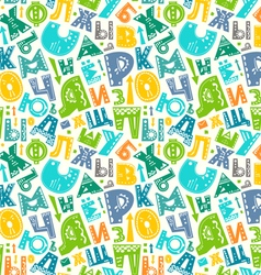 Retro alphabet pattern vector image vector image