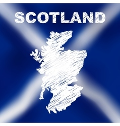 Scottish Abstract Map vector image