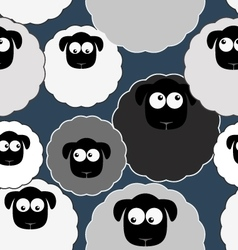 Seamless pattern with cute sheep Farm animals vector image vector image