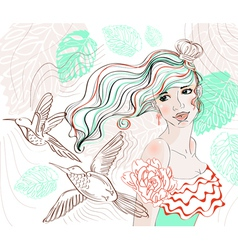 woman background4 vector image