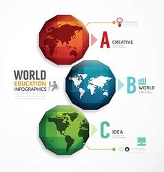 World geometric colorful modern design vector