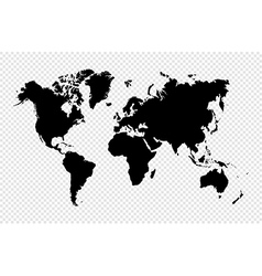 Black silhouette isolated World map EPS10 file vector image vector image