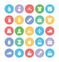 Clothes Icons 9 vector image vector image