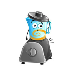 funny kitchen blender cartoon character vector image vector image