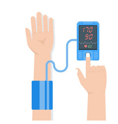 high blood pressure concept tonometr vector image