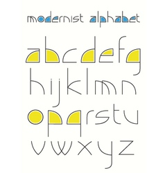 modernistic aphabet vector image vector image