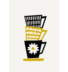 Retro Coffee Cups vector image vector image