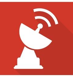 satellite plate icon vector image