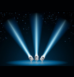 search or spot lights vector image vector image