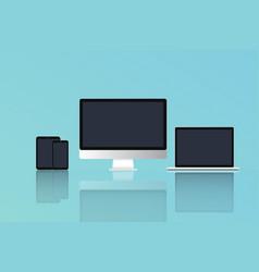 computermodern laptop phone tablet vector image