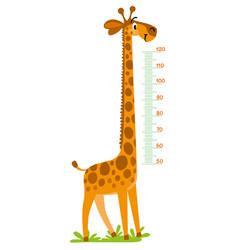 Giraffe meter wall or height chart vector