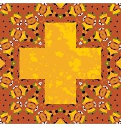 Ornate orient stylized mandala in the shape cross vector image