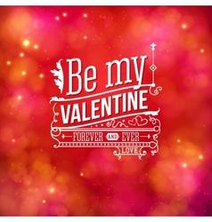 Sentimental Valentines Day card design vector image vector image