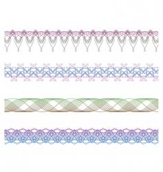 set of borders elements vector image vector image