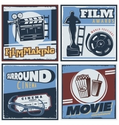Surround Cinema Movie Composition vector image vector image
