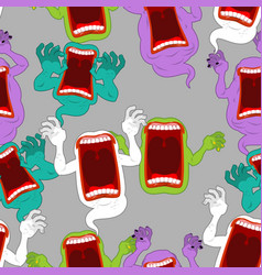 terrible howling wraith background ghost seamless vector image vector image