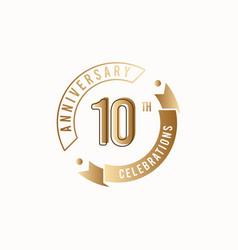 10 th anniversary celebration logo template design vector