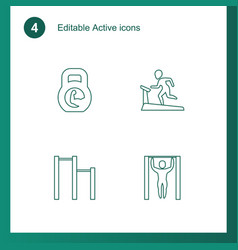 4 active icons vector image