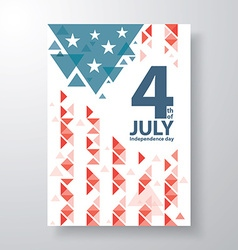 4 of july cover design vector image vector image