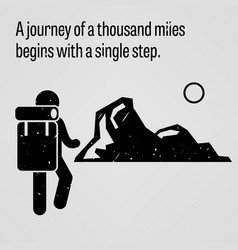 A journey to thousand miles begins vector