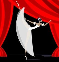 Abstract ballet dancer in white vector