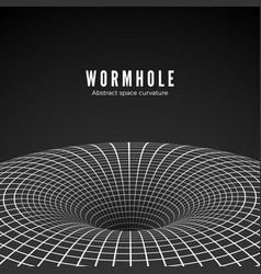 Abstract black hole or wormhole sci-fi digital of vector