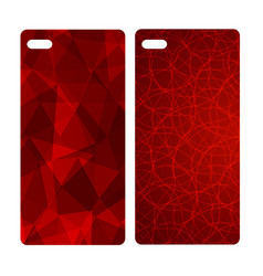 abstract blur bright red background for mobile vector image