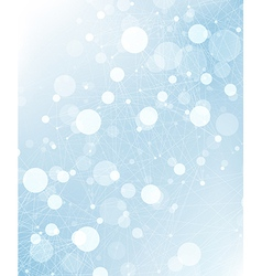 abstract connections background blue vector image