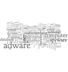 adware and spyware software vector image