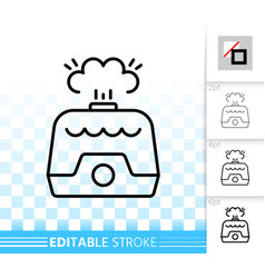 Air humidifier simple black line icon vector
