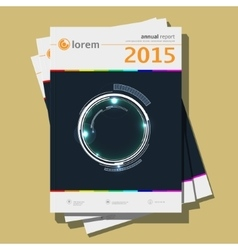 Annual report Design vector image